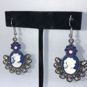 Cameo style earrings that add a bit of class